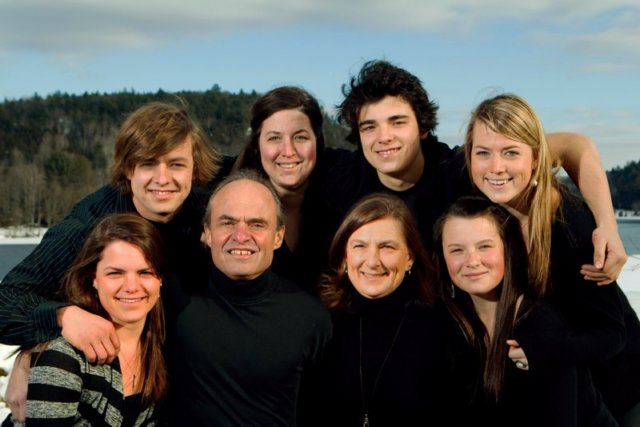 Dr. Ed Chicoine and his family